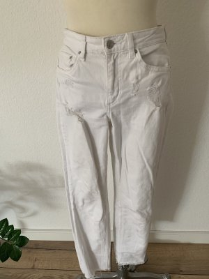 H&M DENIM Pantalon boyfriend blanc