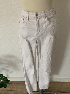 H&M DENIM Pantalon boyfriend blanc