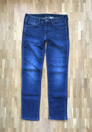 H&M Slim Cropped Low Waist Jeans W26 XS Denim Hose Slim Fit Leg Straight Blogger
