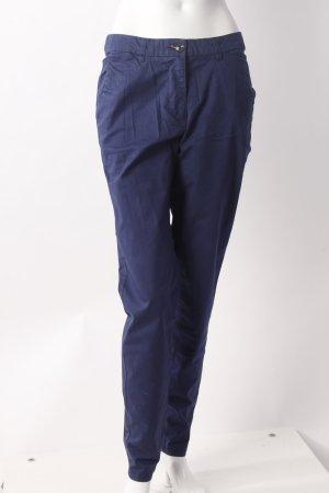 H&M Pantalon strech bleu-bleu acier coton