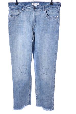 H&M Slim Jeans blau Motivdruck Casual-Look