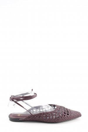 H&M Slingback ballerina's lila casual uitstraling