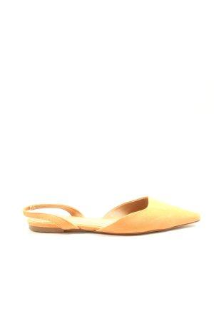 H&M Slingback Ballerinas blassgelb-braun Casual-Look