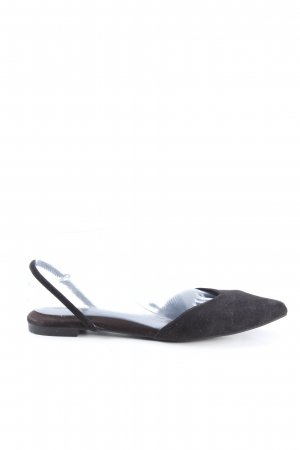 H&M Slingback Ballerinas black casual look