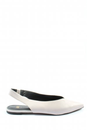 H&M Slingback Ballerinas white casual look