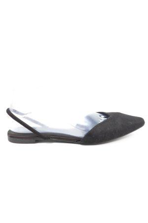 H&M Slingback Ballerinas black casual look