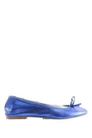 H&M Slingback Ballerinas blau Casual-Look