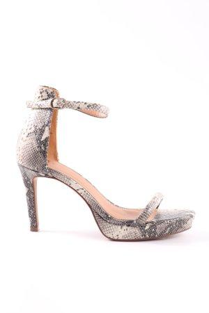 H&M Escarpin à bride arrière gris clair motif animal style décontracté