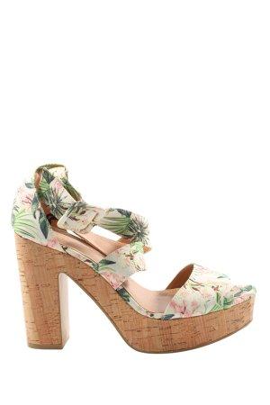 H&M Riemchen-Sandaletten Blumenmuster Casual-Look