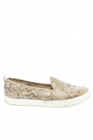 H&M Slipper braun-creme Animalmuster Casual-Look