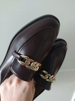 H&M Slipper Bordeaux Rot Slippers Mokassins Loafers Horsebit