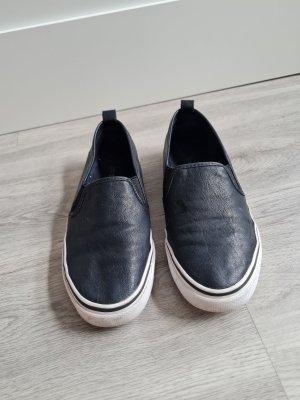 H&M Divided Slippers white-black