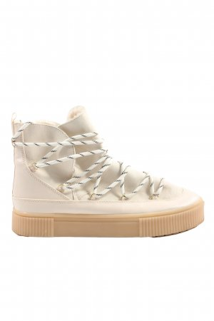 H&M Slouch Booties natural white-nude casual look