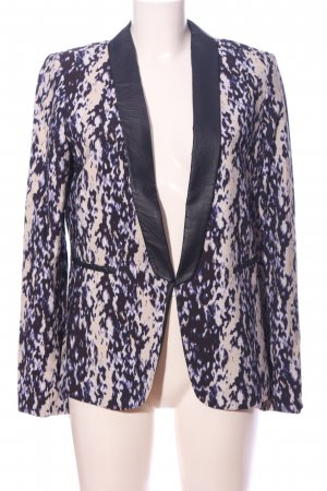 H&M Smokingblazer lila-wit abstract patroon casual uitstraling