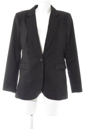 H&M Blazer de esmoquin negro-crema estilo «business»