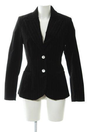 H&M Smoking-Blazer schwarz Streifenmuster Elegant