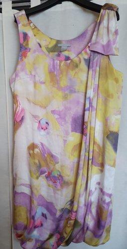 H&M Sommer Mini Kleid ärmellos bunt ähnlich Satin Seide Gr 42