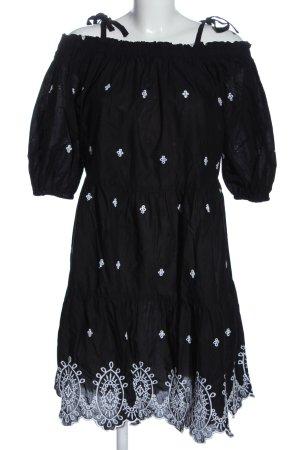 H&M Blusenkleid schwarz-weiß Mustermix Elegant