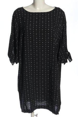 H&M Sommerkleid schwarz-weiß Allover-Druck Casual-Look
