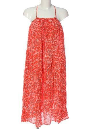 H&M Sommerkleid rot abstraktes Muster Casual-Look