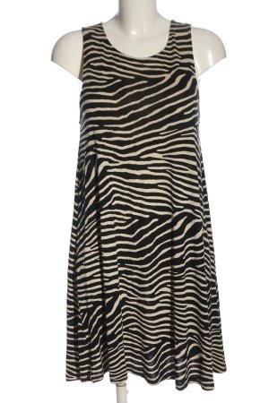 H&M Sommerkleid schwarz-wollweiß Animalmuster Casual-Look