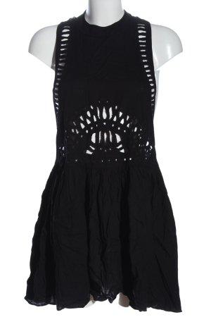 H&M Sommerkleid schwarz Casual-Look