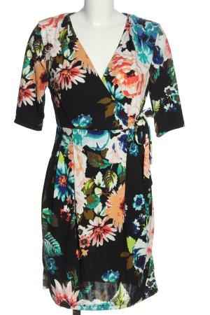 H&M Sommerkleid schwarz-weiß Allover-Druck Elegant