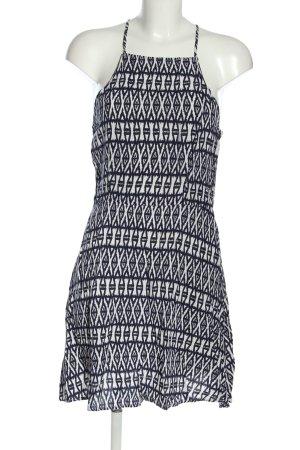 H&M Sommerkleid weiß-blau Allover-Druck Casual-Look