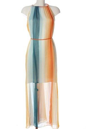 H&M Sommerkleid hellorange-blau Allover-Druck Casual-Look