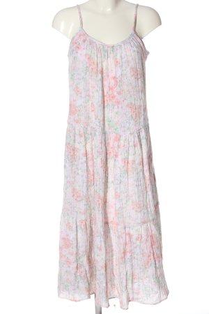 H&M Sommerkleid pink-grün Allover-Druck Casual-Look