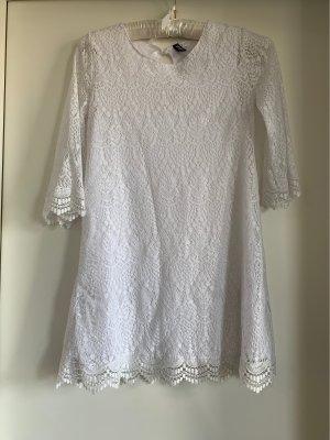 H&M Sommerkleid Crochet Weiß S