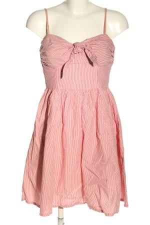 H&M Sommerkleid weiß-rot Streifenmuster Casual-Look