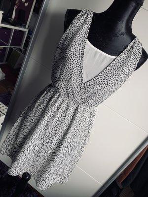 H&M Sommerkleid Kleid Gr. 34 XS Punkte knielang