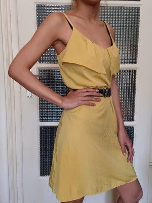 H&M Sommerkleid mit Stretchband [Dunkelgelb, Gr. M]