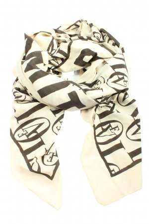 H&M Chal veraniego blanco puro-negro letras impresas elegante