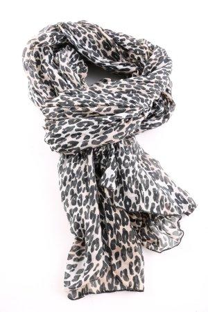 H&M Chal veraniego crema-negro estampado de leopardo look casual