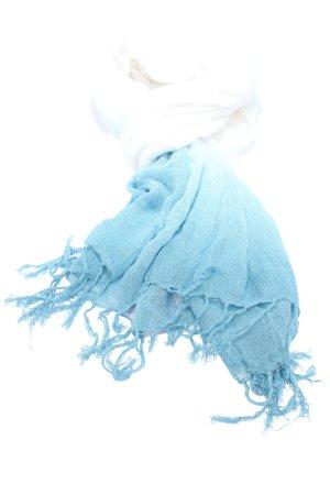 H&M Écharpe d'été blanc-bleu gradient de couleur style décontracté