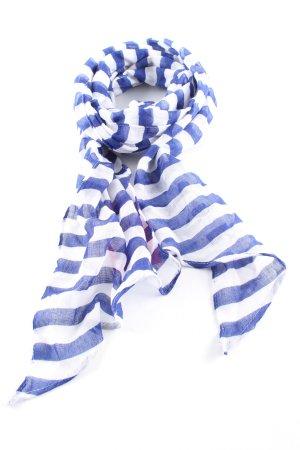 H&M Chal veraniego azul-blanco estampado a rayas look casual