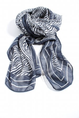 H&M Summer Scarf blue-white graphic pattern casual look