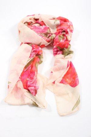 H&M Écharpe d'été blanc cassé-rose motif animal style décontracté