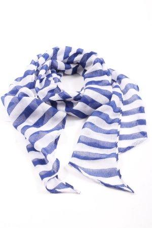 H&M Szal letni niebieski-biały Wzór w paski W stylu casual