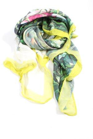H&M Écharpe d'été jaune primevère-vert imprimé allover