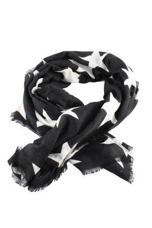 H&M Chal veraniego negro-blanco estampado repetido sobre toda la superficie