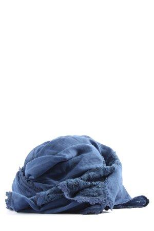 H&M Chal veraniego azul look casual