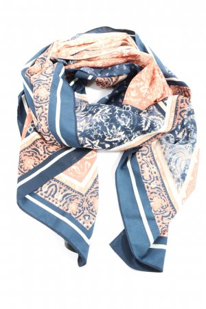 H&M Summer Scarf blue-pink graphic pattern casual look