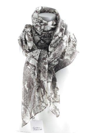 H&M Chal veraniego blanco puro-gris estampado de animales