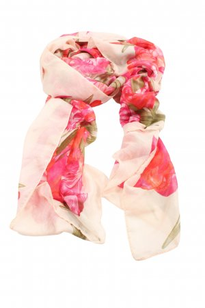 H&M Summer Scarf natural white-pink animal pattern casual look