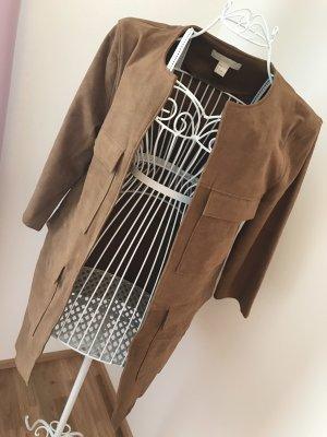 H&M Conscious Exclusive Abrigo de cuero marrón