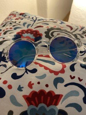 H&M Lunettes de soleil rondes bleuet tissu mixte