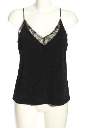 H&M Top de tirantes finos negro look casual